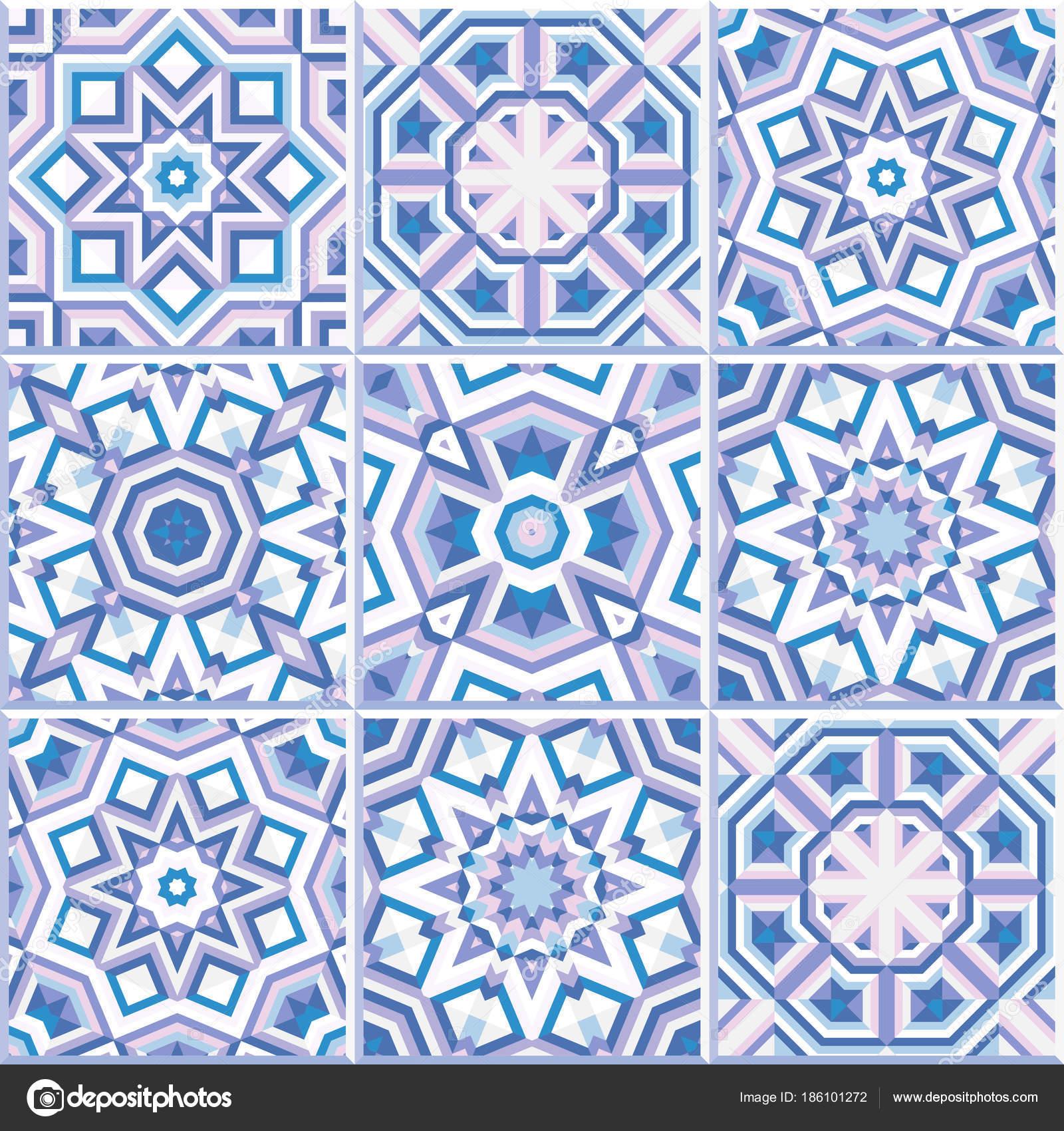 Portuguese floor tiles design, seamless pattern — Stock Vector ...