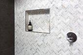 Dusche Regal Detail in Wand