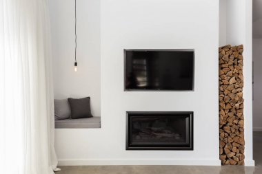 Built in tv and gas fire