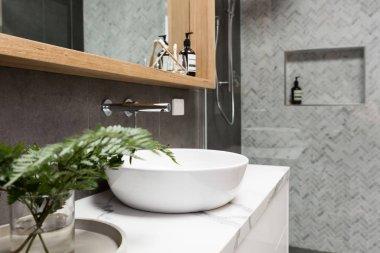 Clean white basin