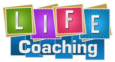 Life Coaching Colorful Squares Stripes