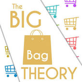 Big Bag Theory Colorful Shopping Cart Background