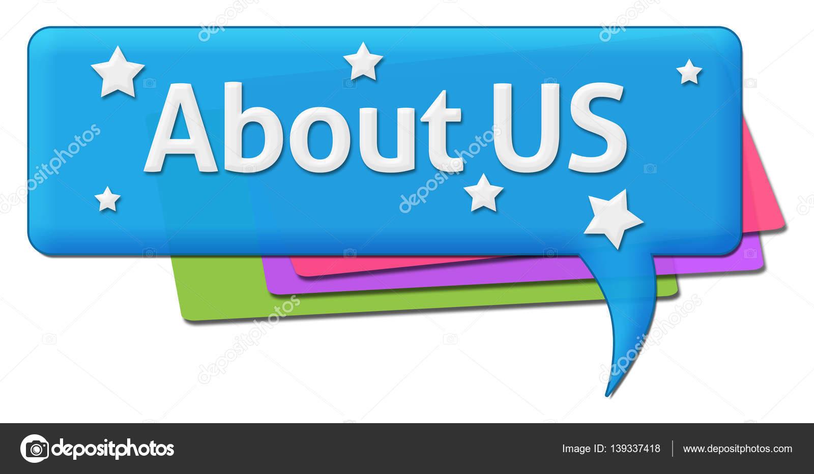 About Us Colorful Comment Symbol Stock Photo Ileezhun 139337418