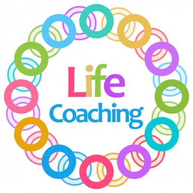 Life Coaching Colorful Circular Background