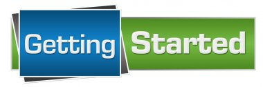 Getting Started Green Blue Horizontal