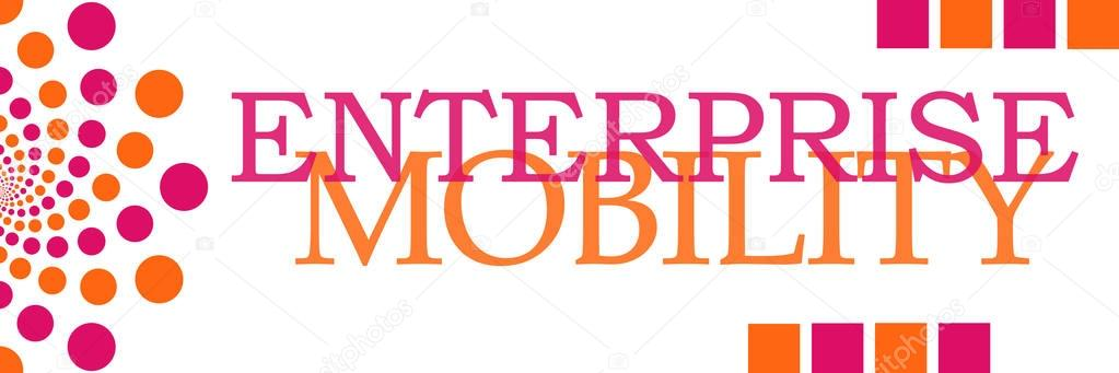 Enterprise Mobility Pink Orange Dots Horizontal