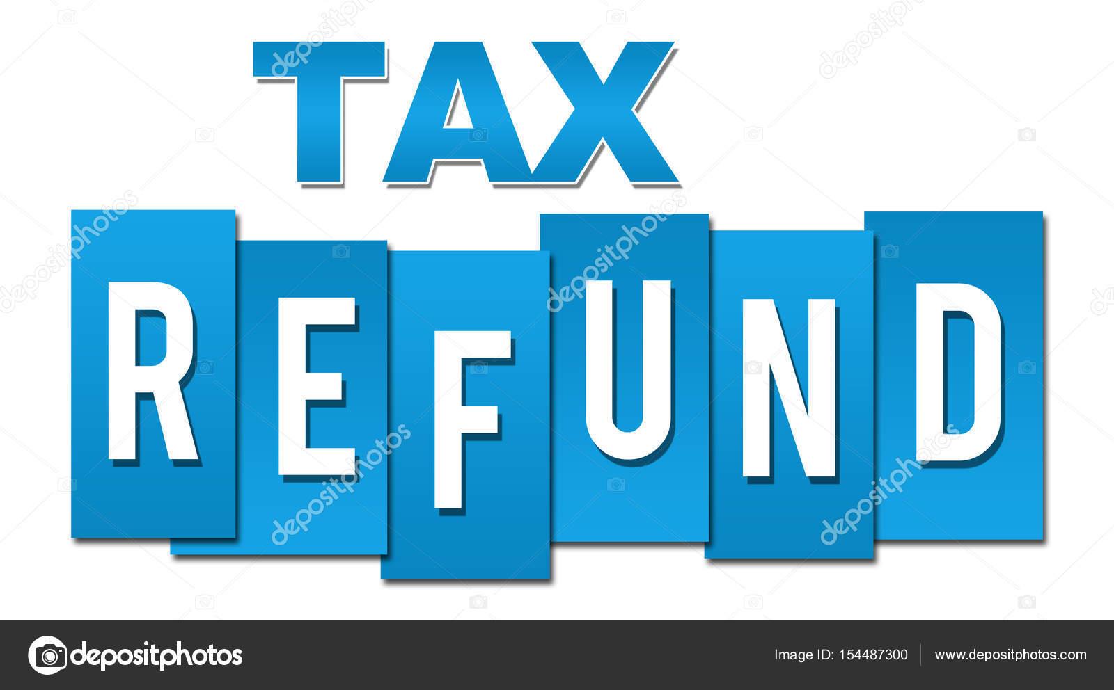 Reembolso de impuesto profesional azul — Foto de stock © ileezhun ...