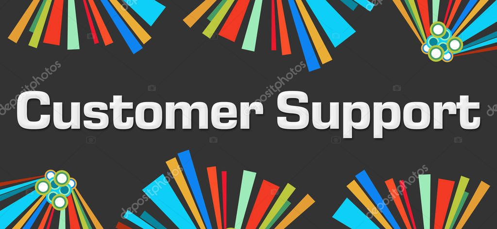 Customer Support Dark Colorful Elements