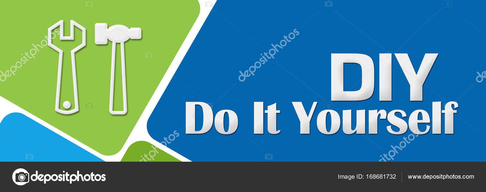 Diy do it yourself verde azul redondeado cuadrados foto de diy hazlo t mismo concepto imagen con texto y smbolo relacionado sobre fondo azul verde foto de ileezhun solutioingenieria Image collections