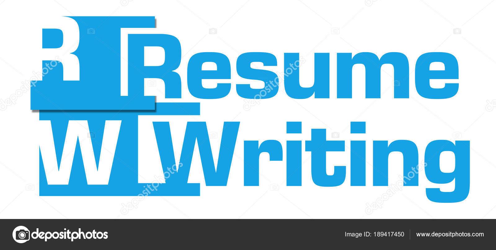 Resume Writing Text Written Blue Background Stock Photo