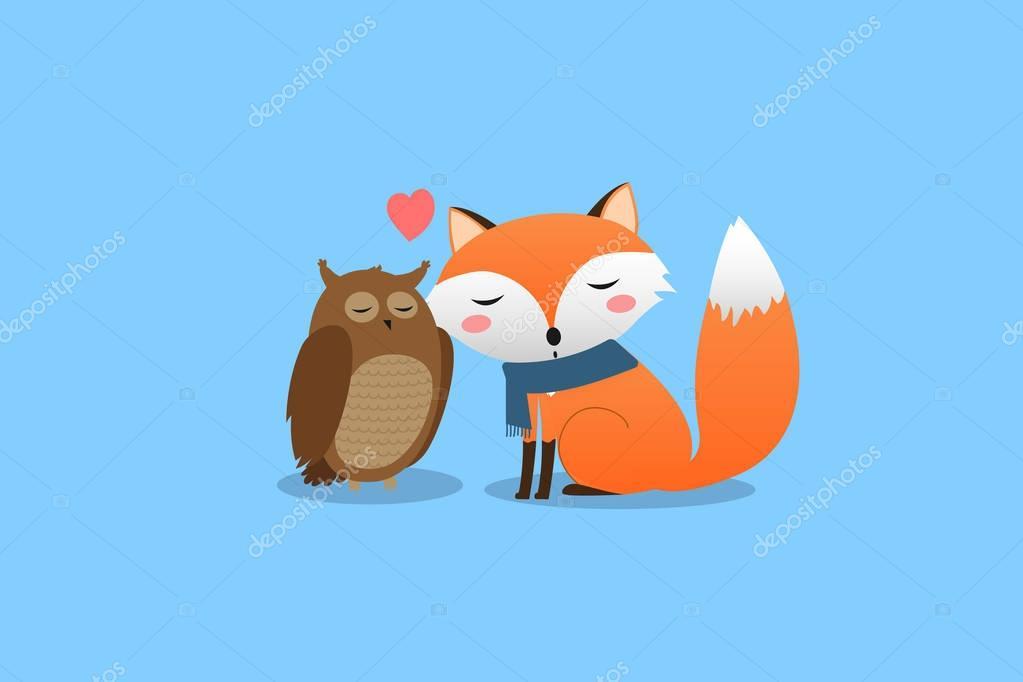 Смешные картинки лиса и сова, про