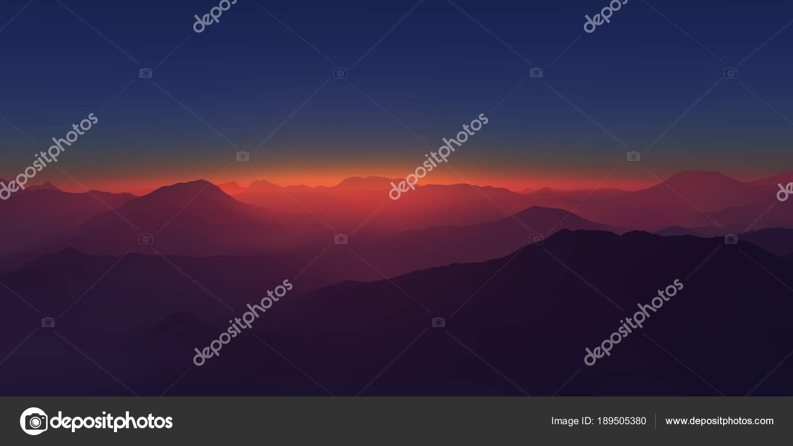 Paisagem de montanha panorama acima das montanhas voando sobre as uma bela paisagem montanhosa lindo cu ao entardecer bem acima das nuvens vetor de evgeniybelyaev thecheapjerseys Choice Image