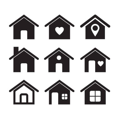 Home icon, vector illustration isolated