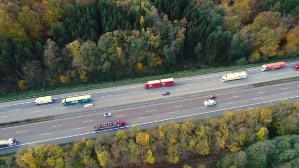 Autobahn und Verkehr, Luftaufnahme
