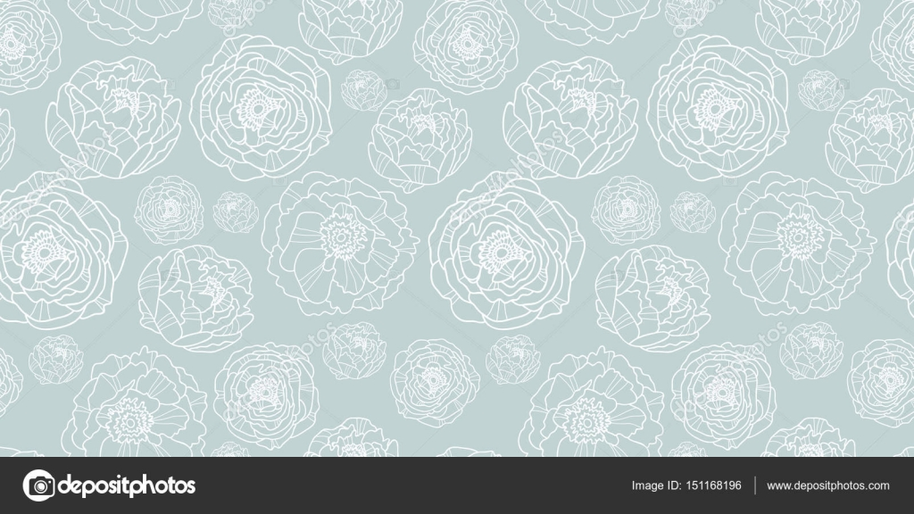 Vector Silver Grey Flower Garden Seamless Repeat Pattern Background Texture Perfect For Wedding Invitations Wallpaper Giftwrap Stationery And Fabric