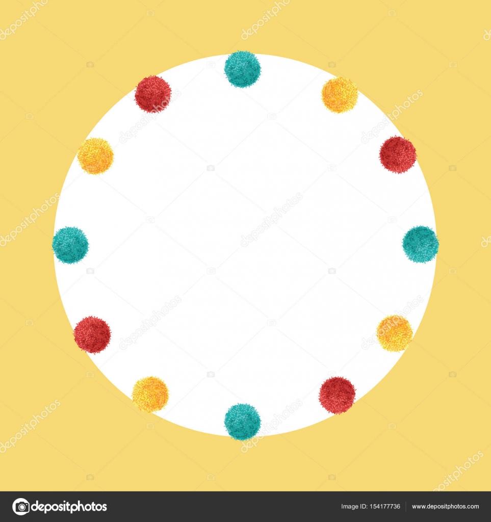 Vectores colorido vibrante cumpleaños fiesta Pom Poms círculo ...