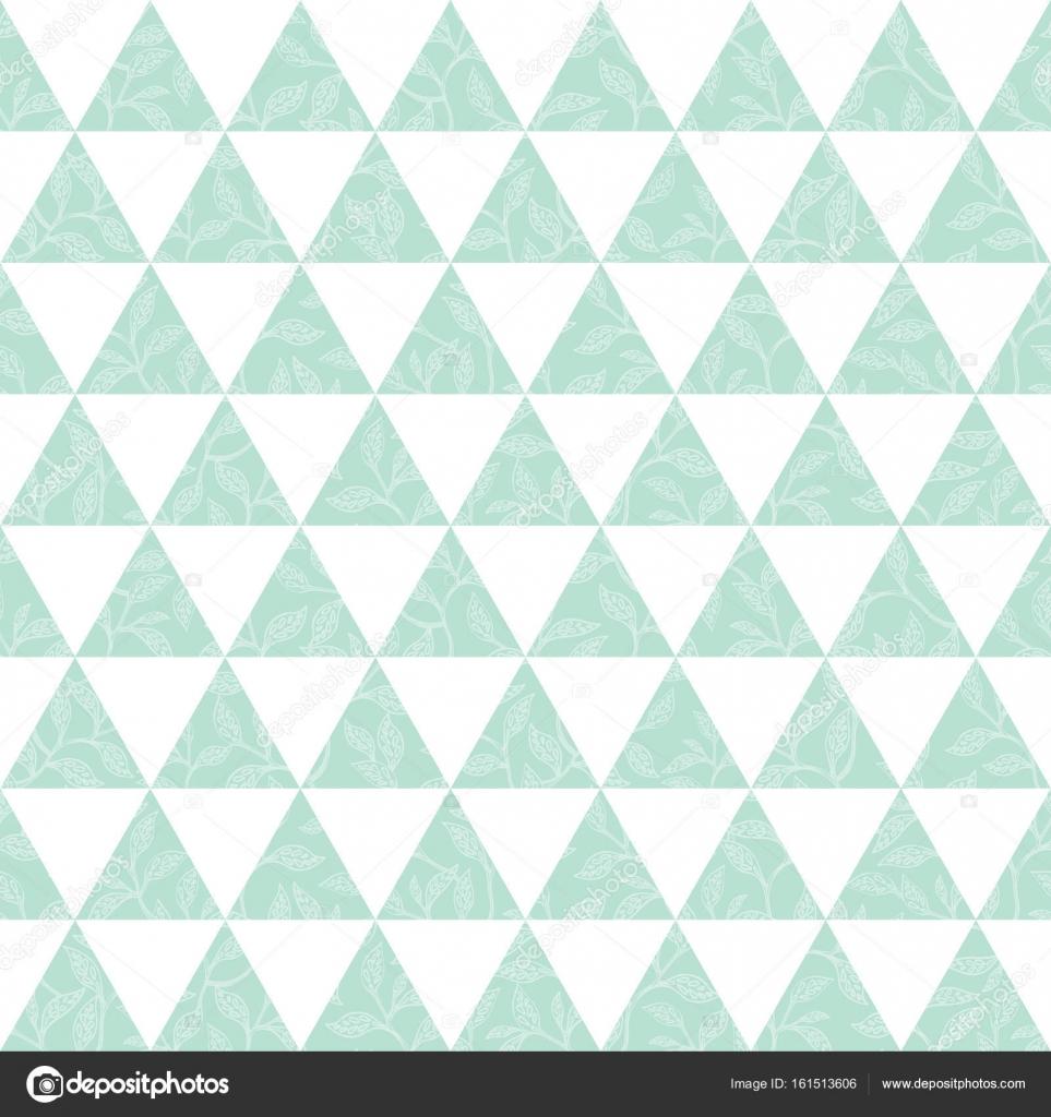 vektor mintgr n dreiecke und bl tter textur nahtlose muster hintergrund perfekt f r moderne. Black Bedroom Furniture Sets. Home Design Ideas