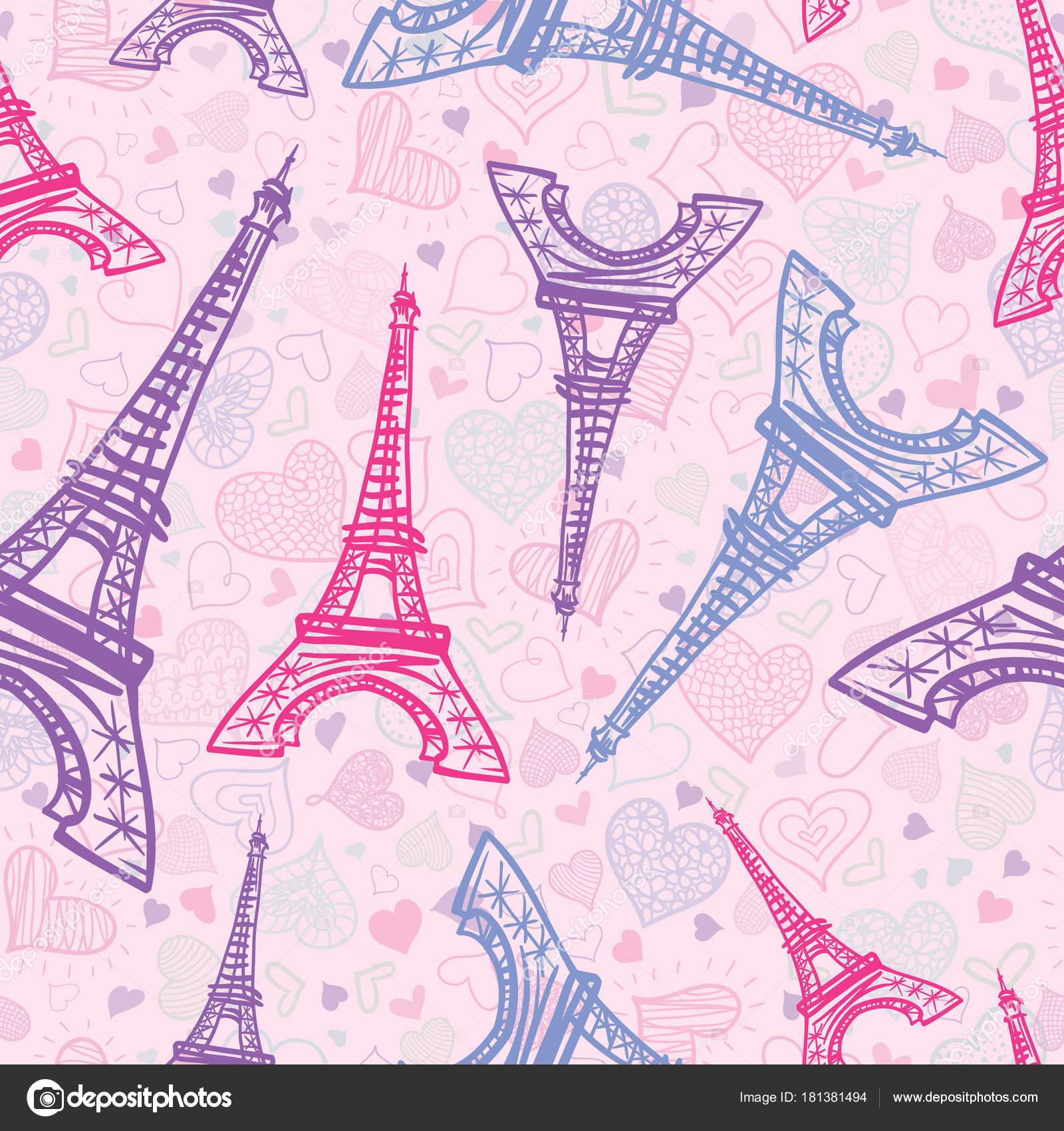 Invitaciones De Cumpleaños De La Torre Eiffel Vector Plano
