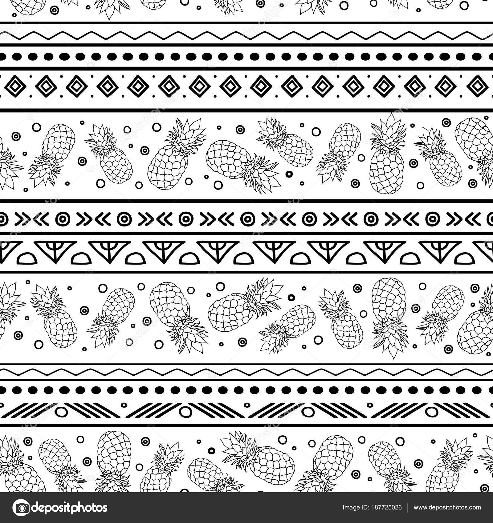 Black And White Tribal Wallpaper Vectorblue Black And