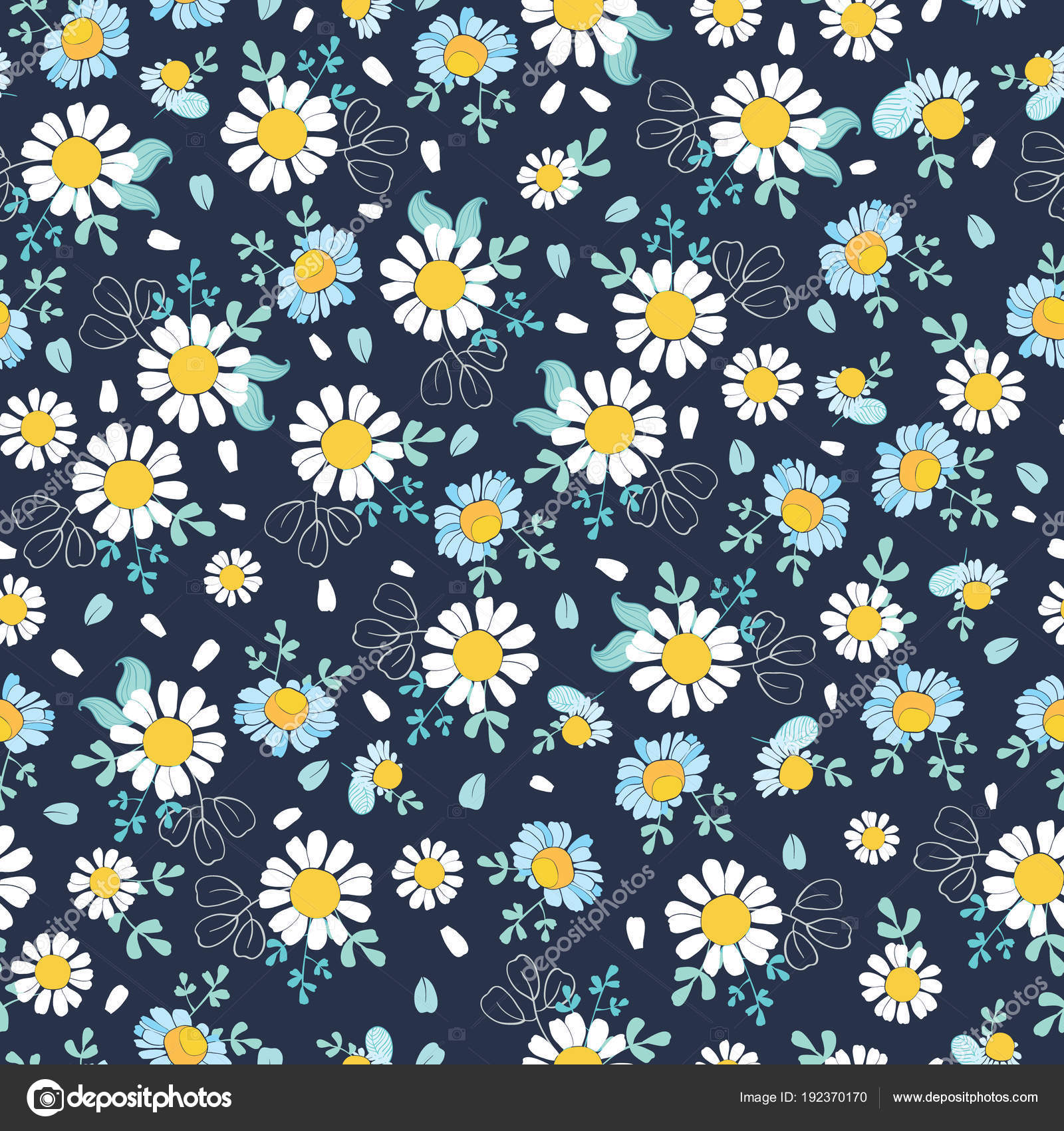 Black And White Daisy Wallpaper Black White Daisies Ditsy