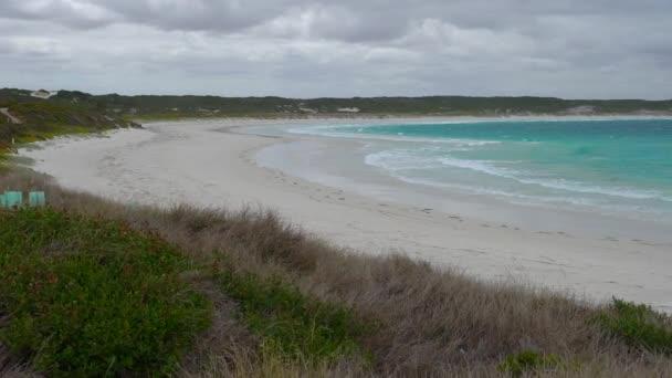 Twilight Beach v blízkosti Esperance zatažený den, západní Austrálie
