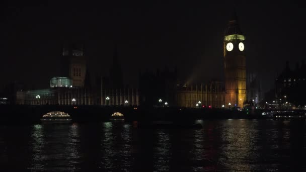 Big ben Londonban Night, forgalom a Westminster-híd, a brit Old Clock