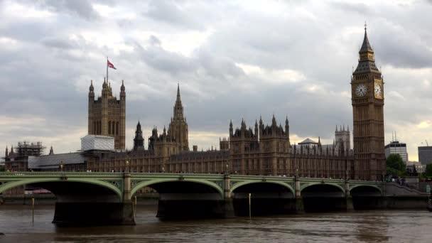 Big Ben Londýn, doprava na Westminsterském mostě, Red Double Decker
