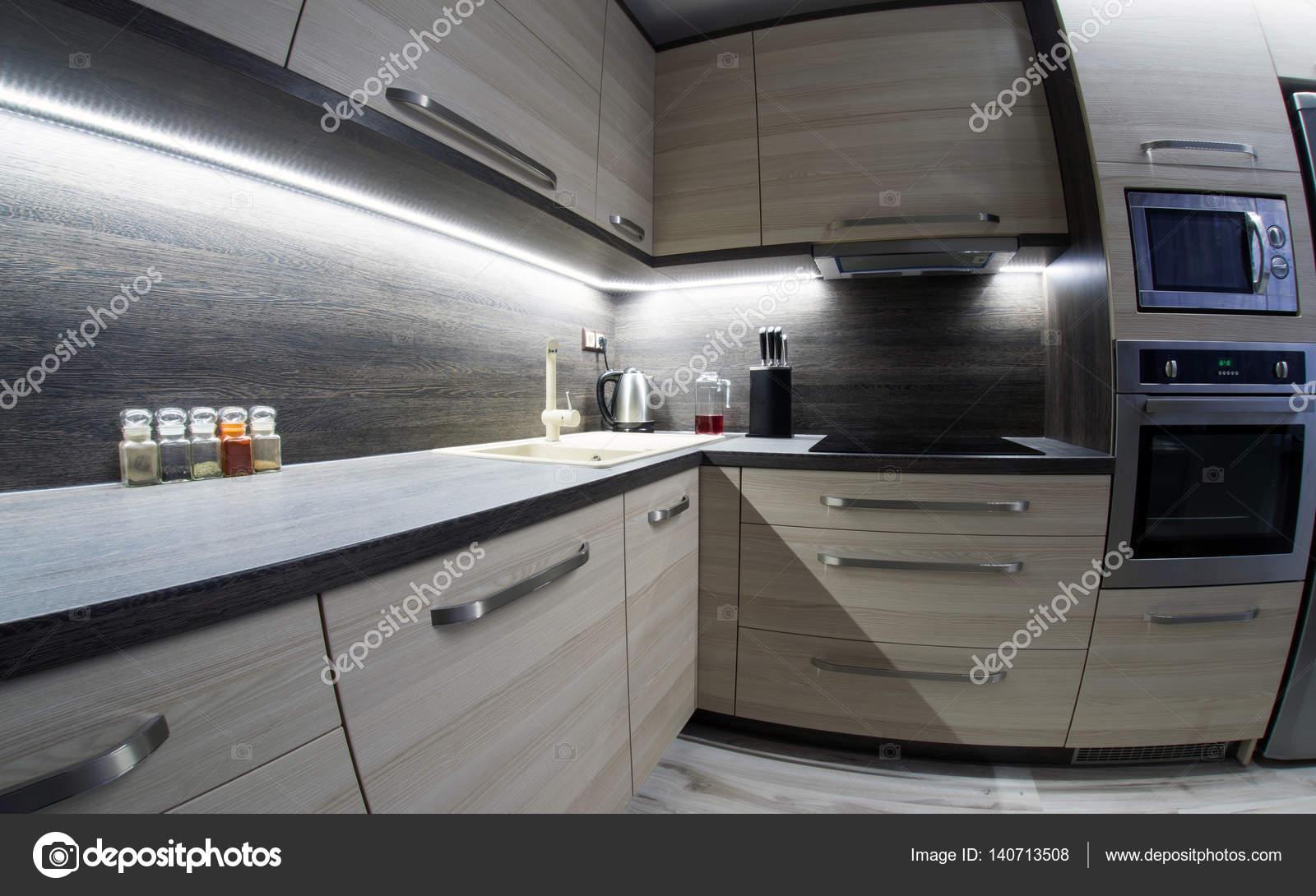 muebles de cocina moderna — Foto de stock © jarino #140713508