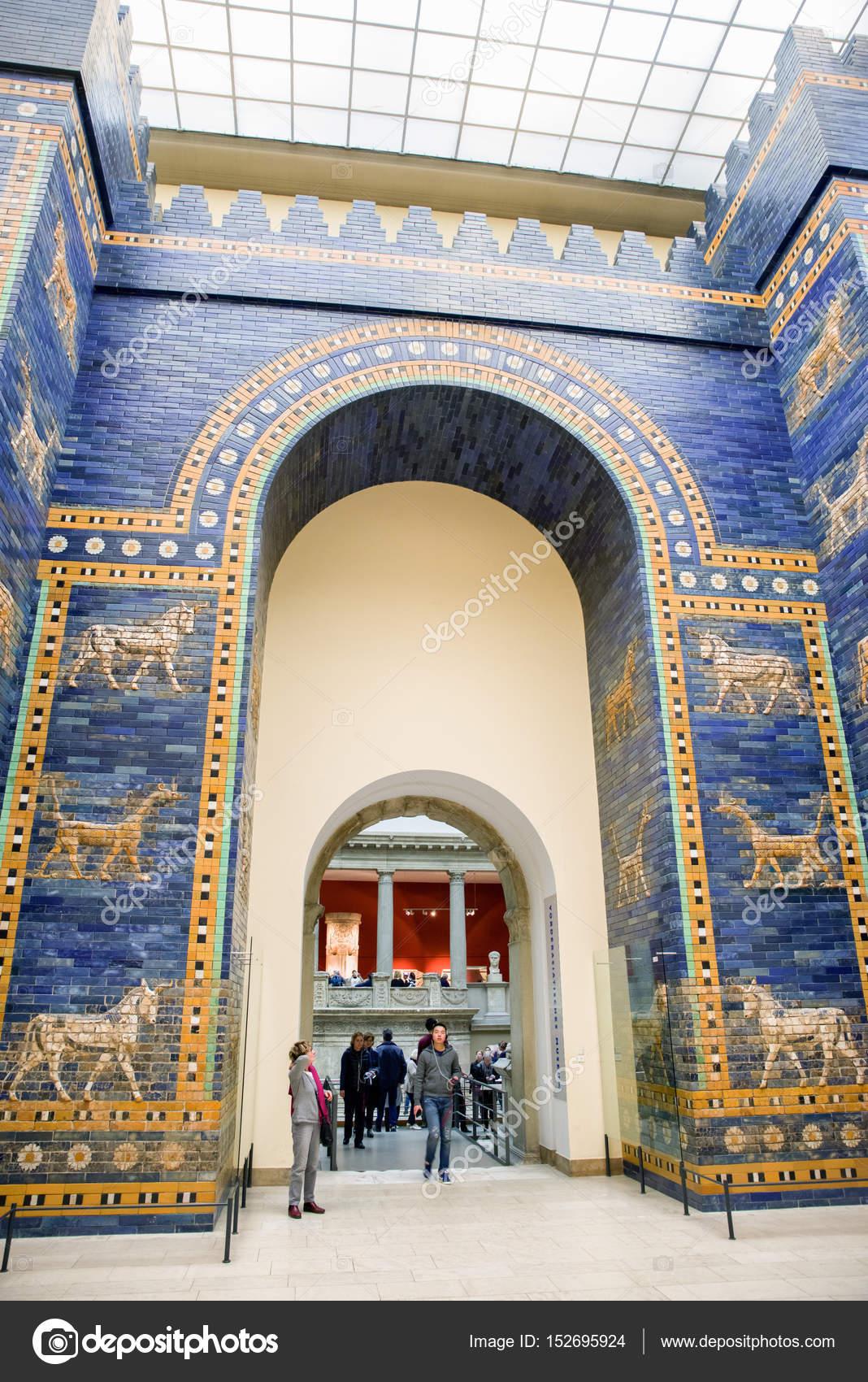 ishtar gate from babylon in pergamon museum berlin germany