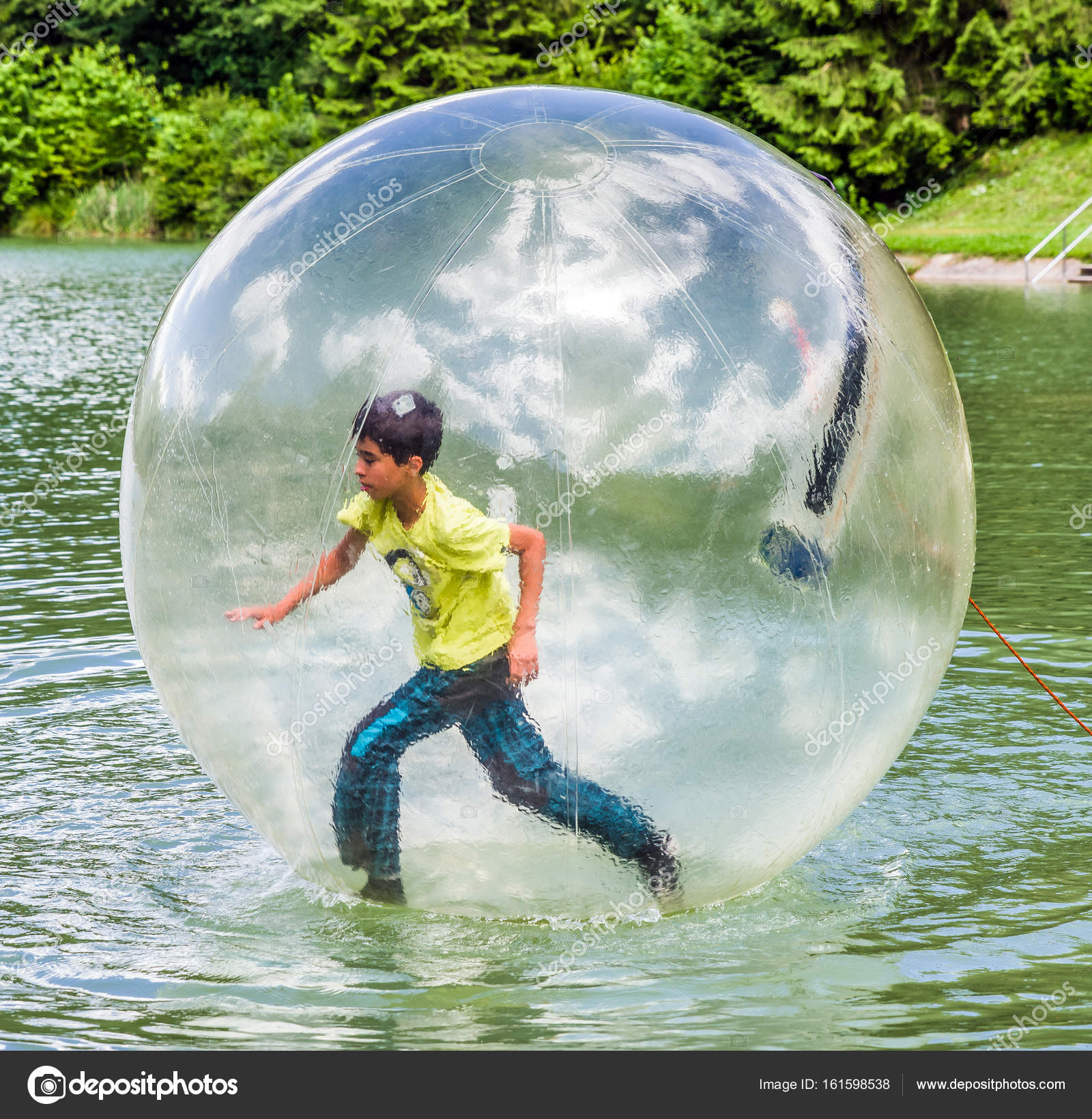 aqua zorbing on water � stock photo 169 jarino 161598538