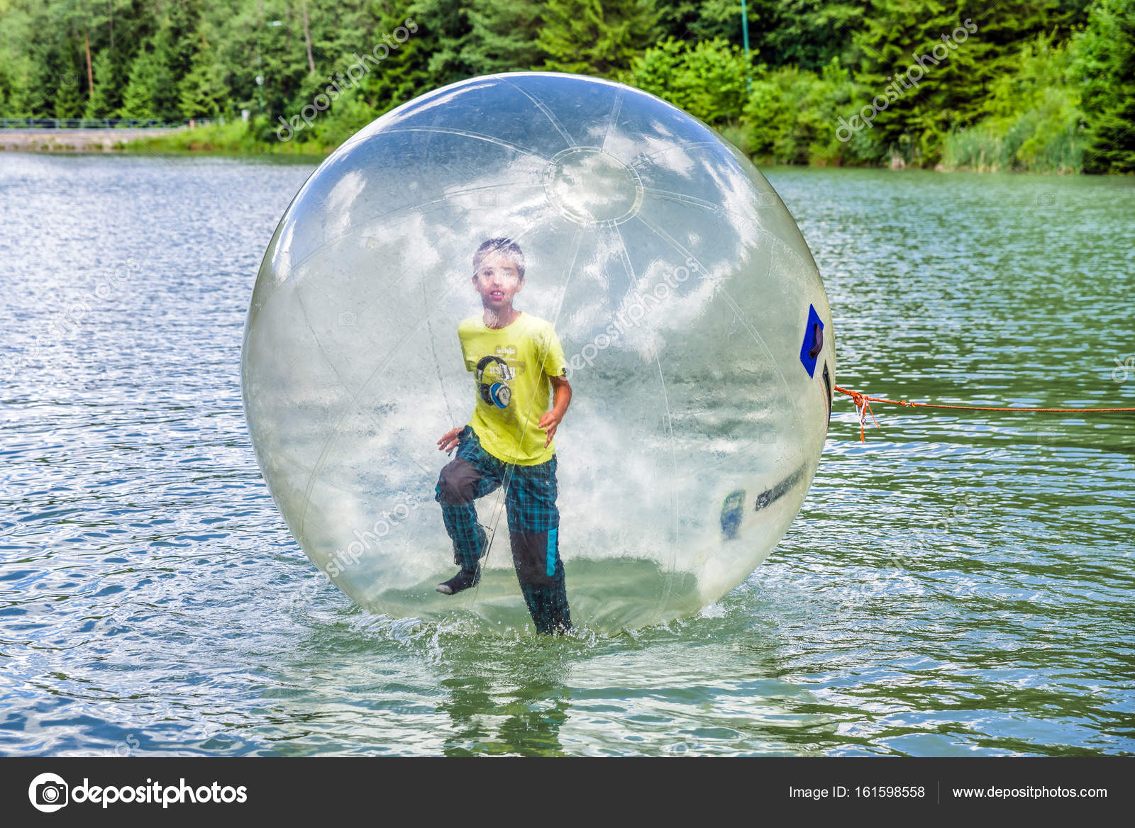 aqua zorbing on water � stock photo 169 jarino 161598558