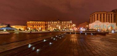 Christmas night Moscow.