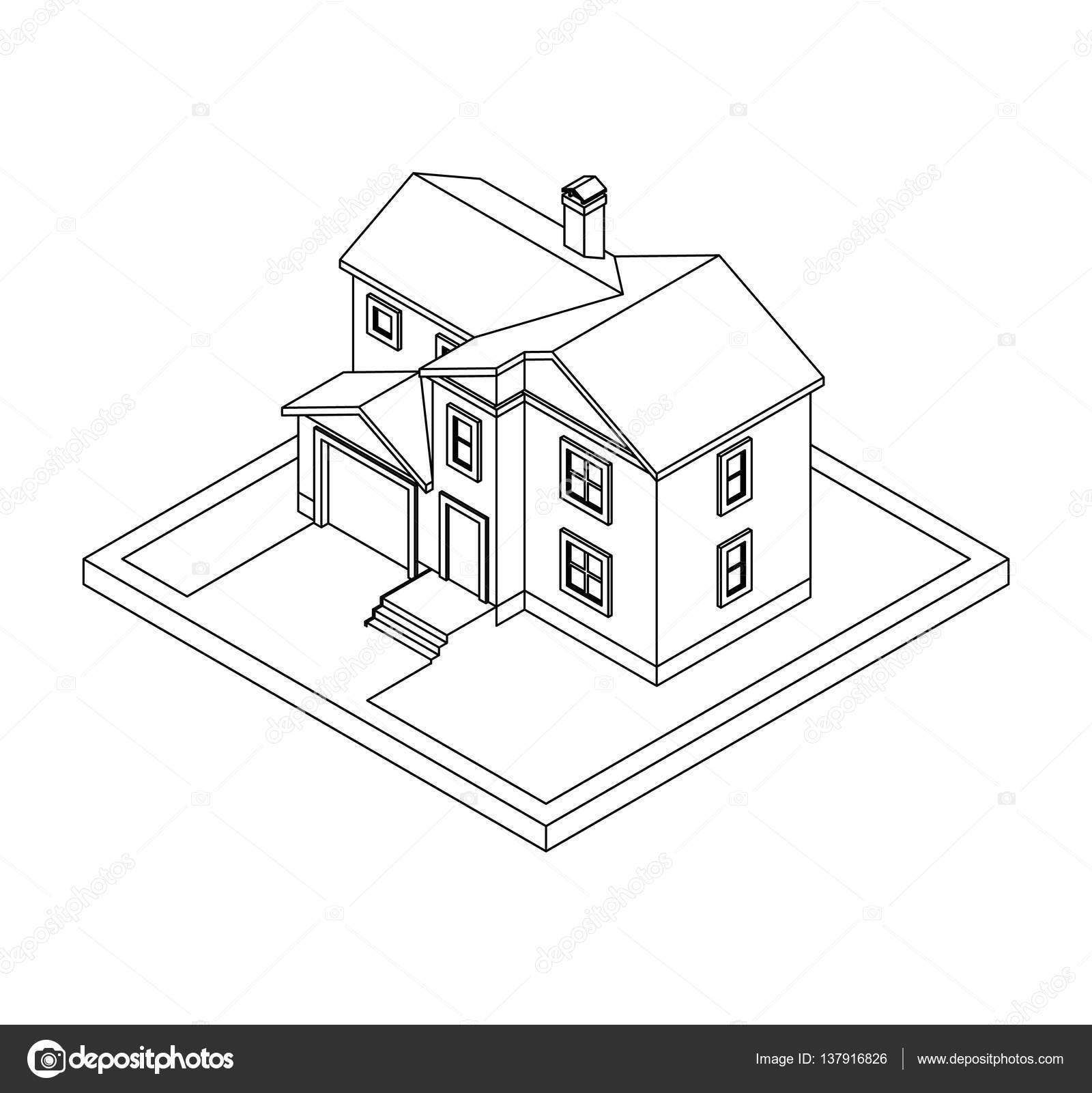 Dibujos Casas Por Dentro Coloreadas Dibujo De Casa Vector De