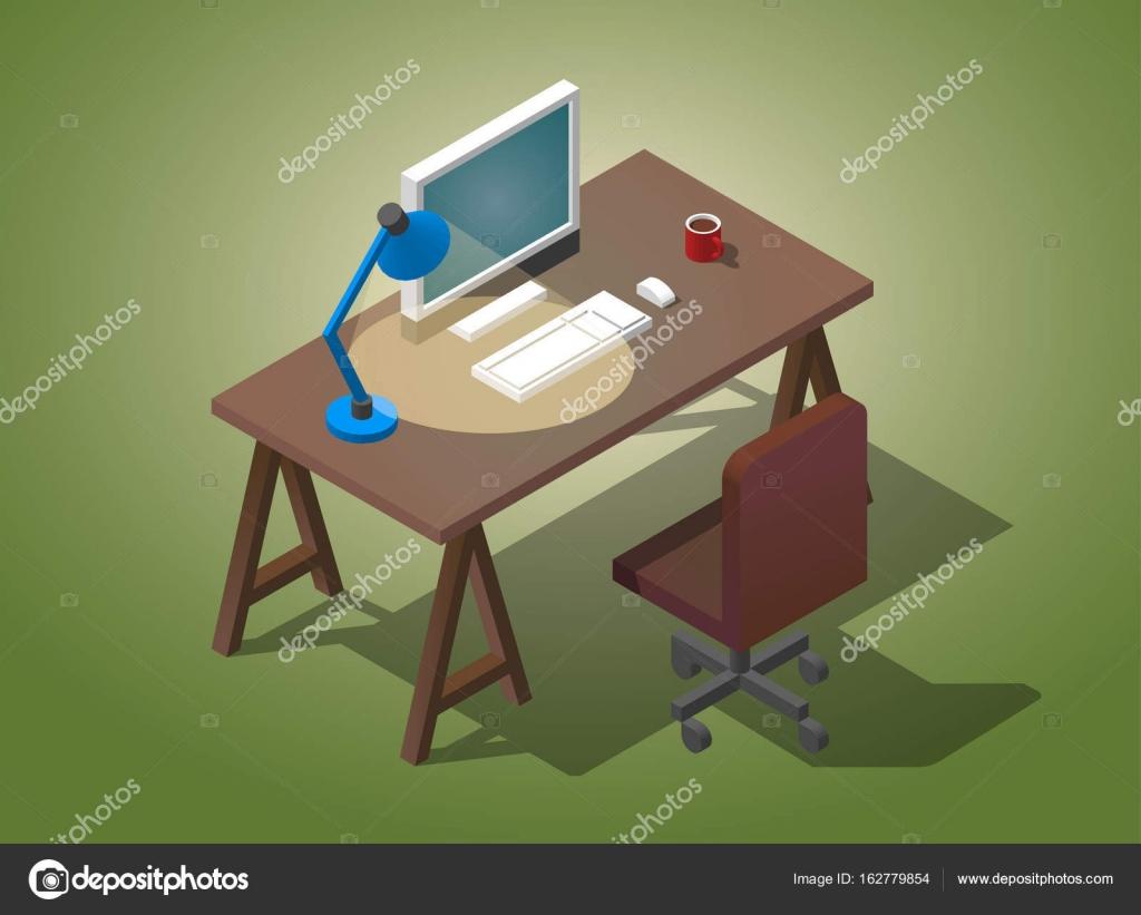 Bureau vide pour homme d affaires illustration vectorielle