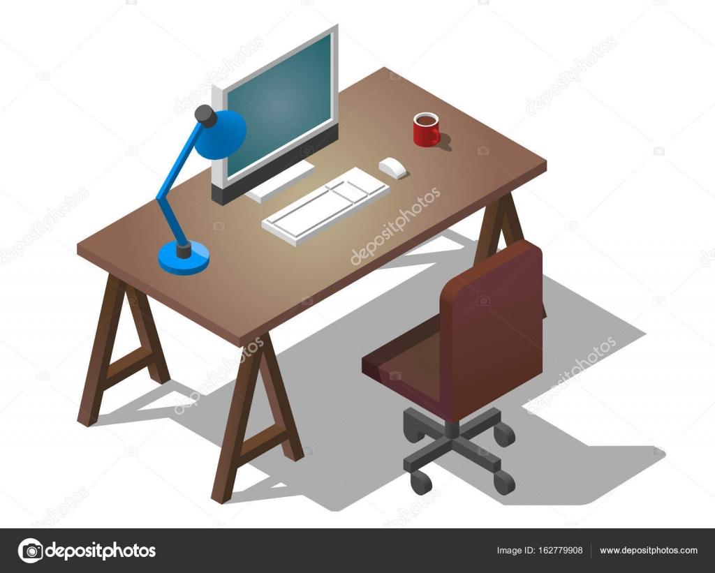 Bureau vide pour homme daffaires. illustration vectorielle