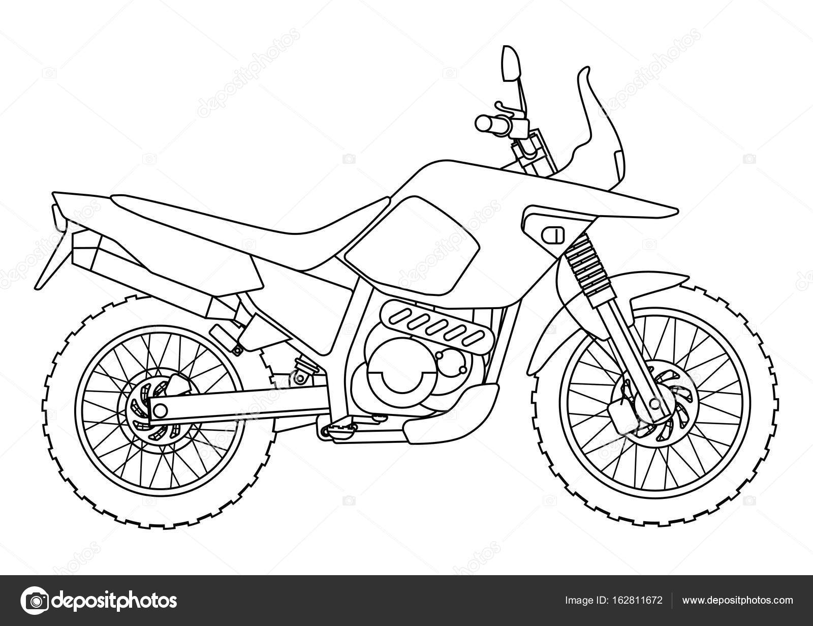 Hand Draw Style Of A Vector New Motorcycle Illustration For