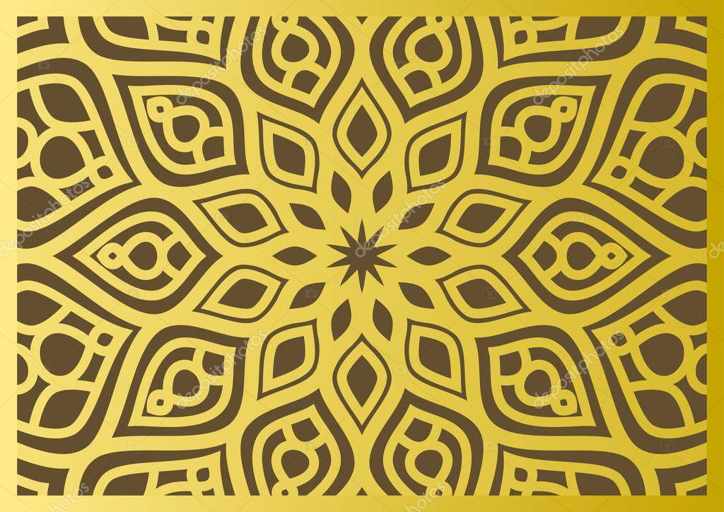traditionelle osten geometrische dekoratives muster gold