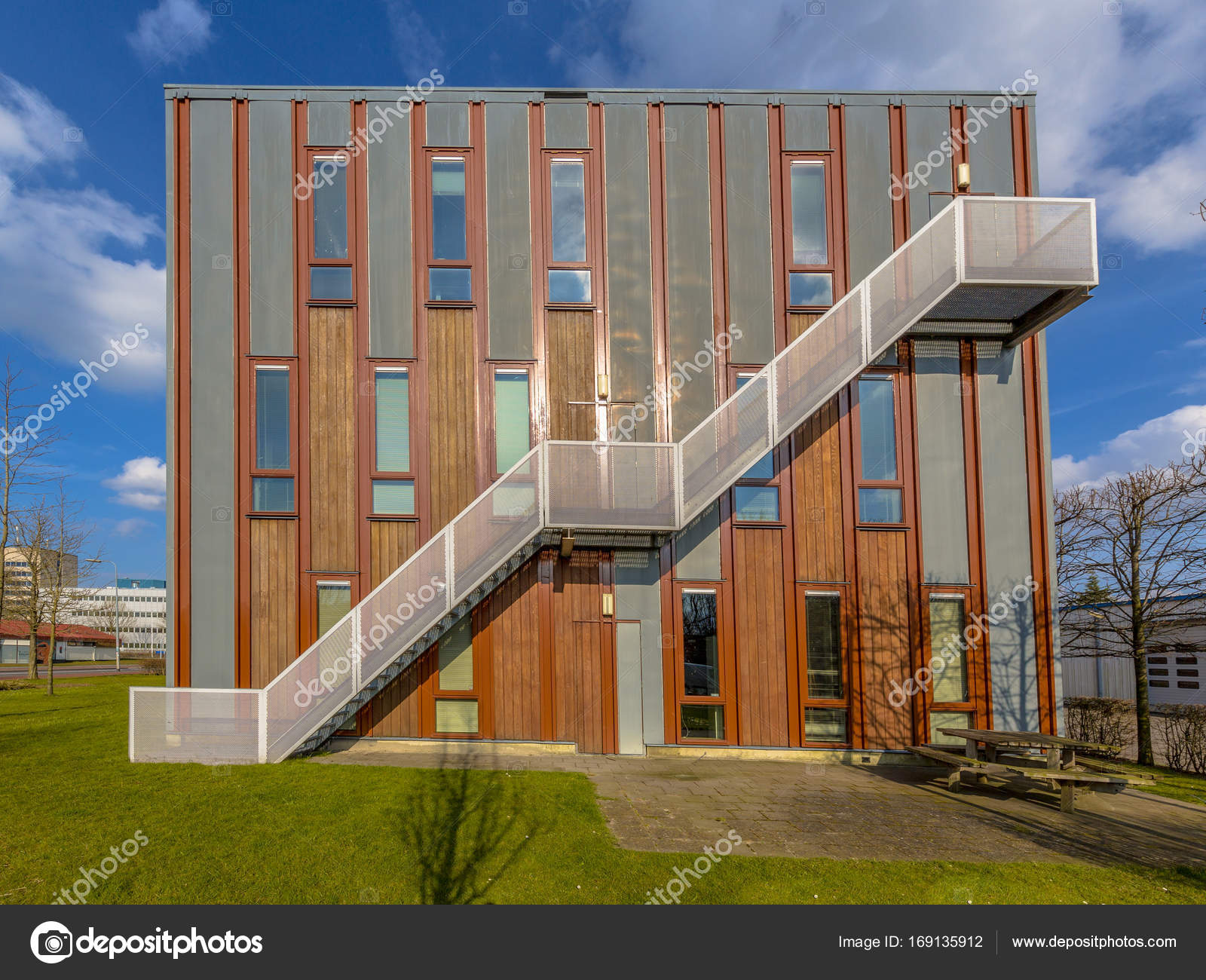 wooden office buildings. Sustainable Wooden Office Building \u2014 Stock Photo Buildings F