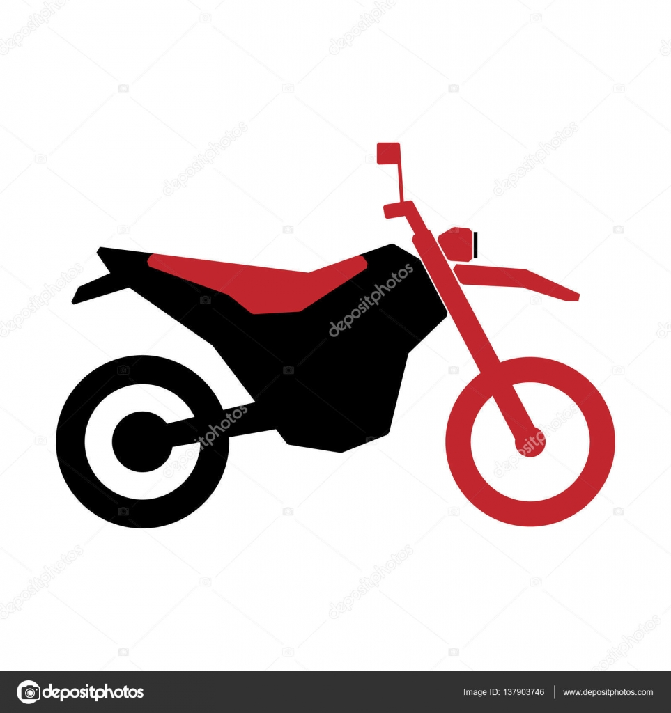 Simple motorcycle in black and red color — Stock Vector © WhiteNose ...