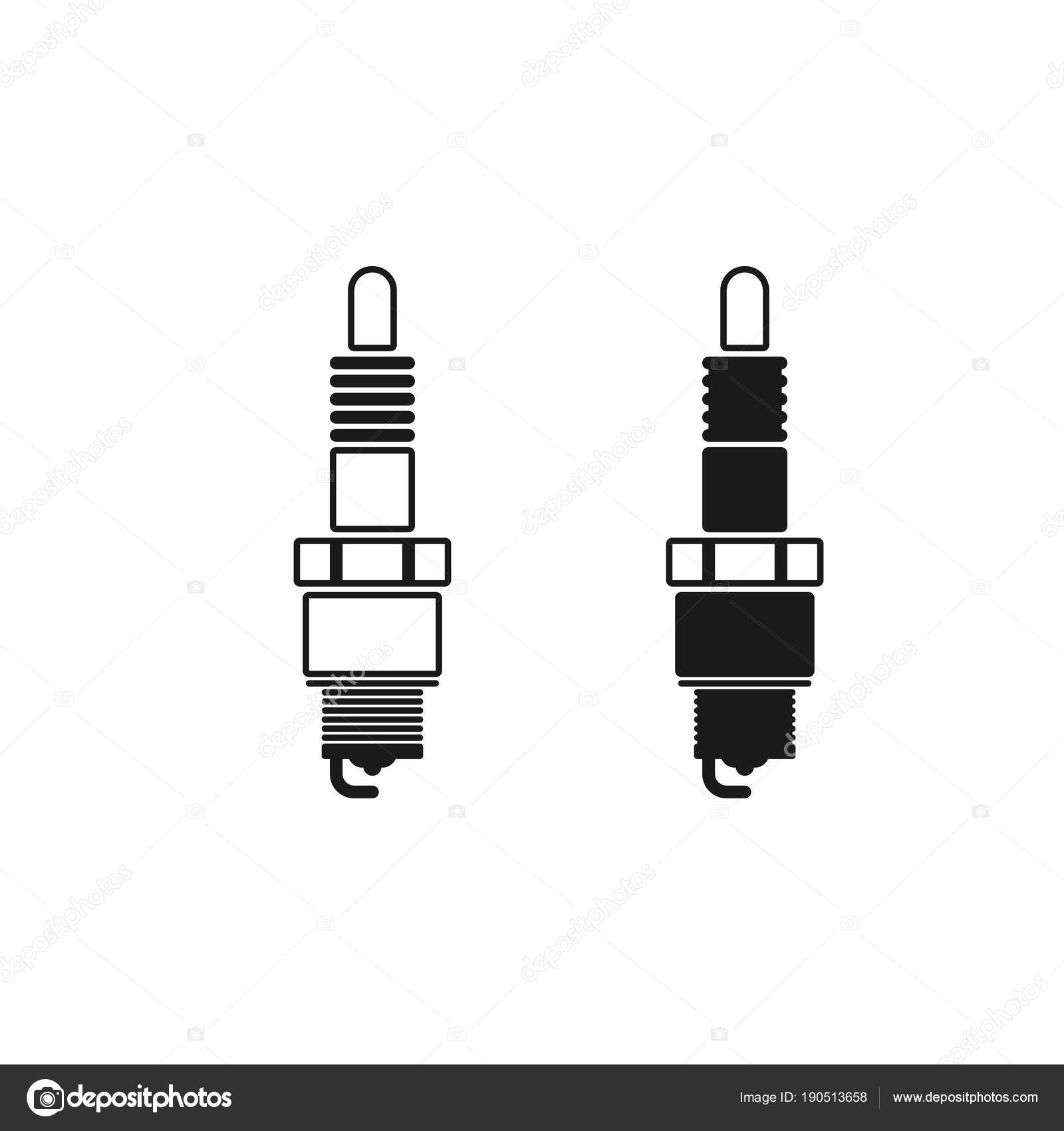Spark Plug Vector Icon Mobile Concept Web Design Symbol Logo Stock