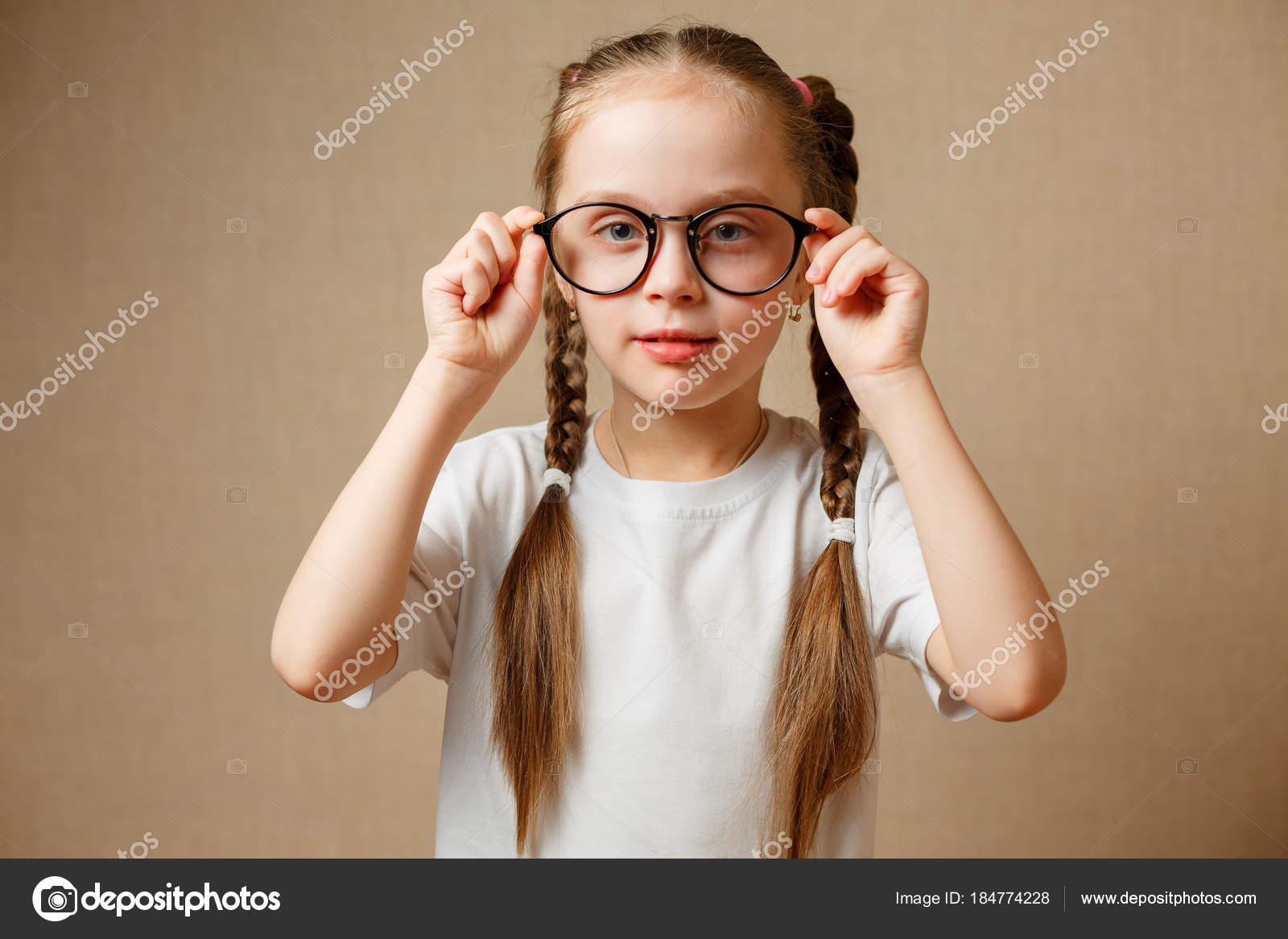 3a47895fb5cd little girl with big glasses — Stock Photo © karpik-hoi #184774228