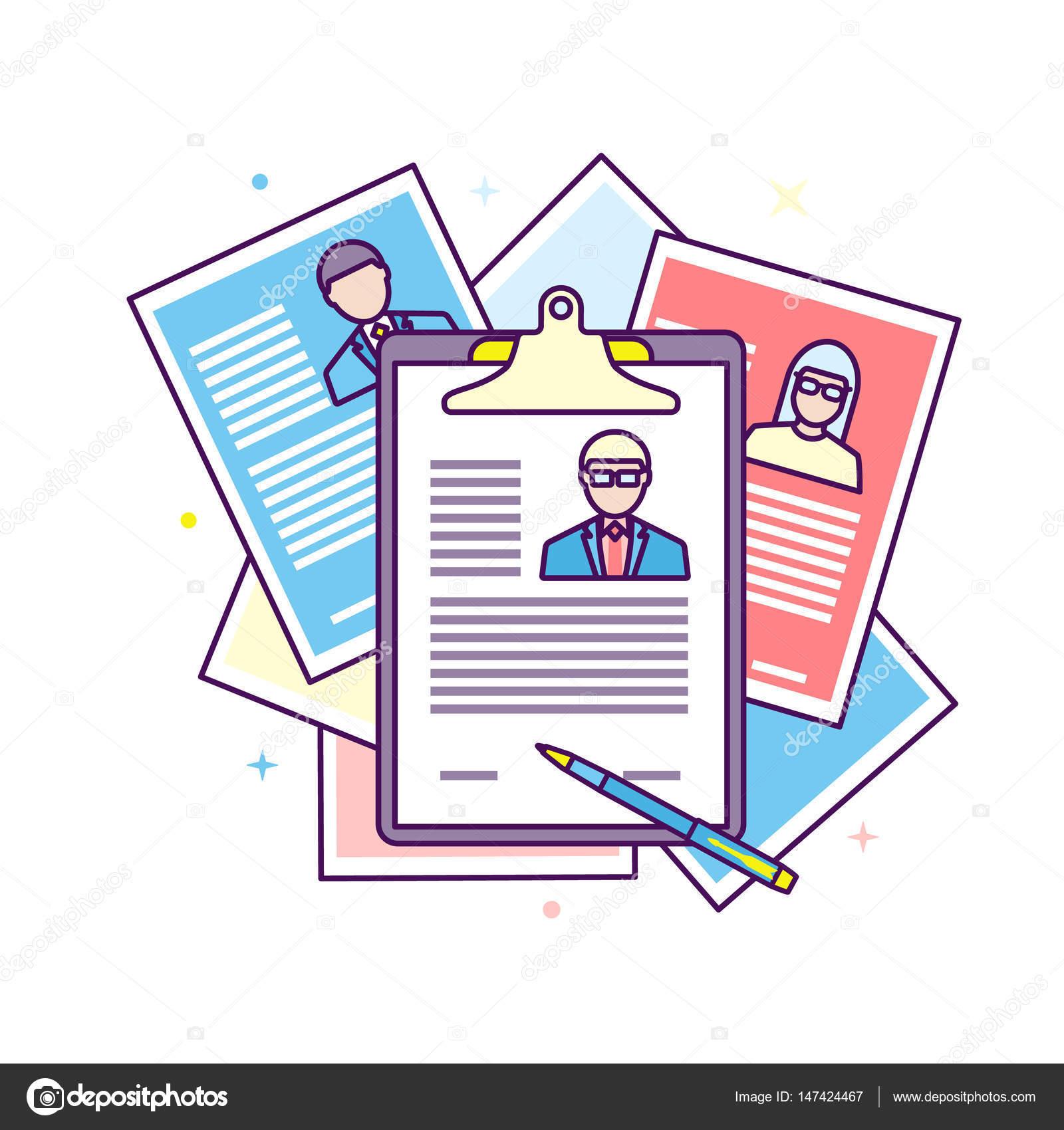 Puesto de trabajo de candidato de reclutamiento de Curriculum Vitae ...