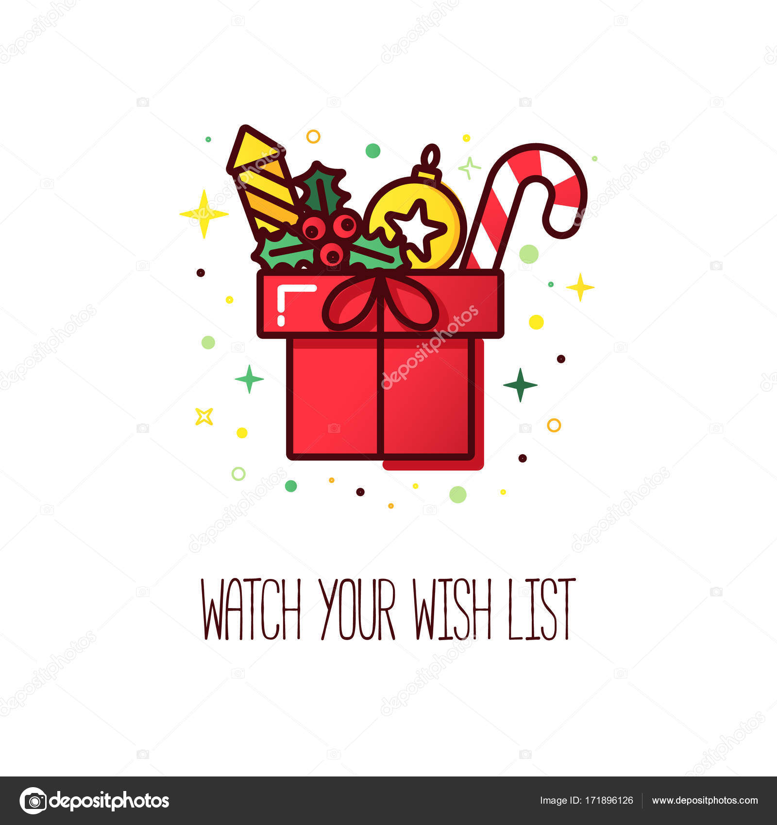 Christmas wish list logo — Stock Vector © Ciripasca #171896126