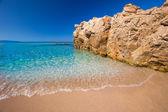 Fényképek Beautiful sandy beach with rocks near Cargese, Corsica