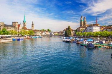 Zurich center with Fraumunster Churcha