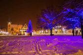 Fotografie Vánoční strom ve starých Bardejov