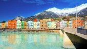 Panoráma v Innsbruck centrum města
