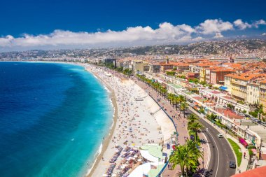 Beach promenade in city center of Nice