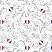 pattern with cheese and French Heart flag