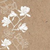 Větve s květy magnólie